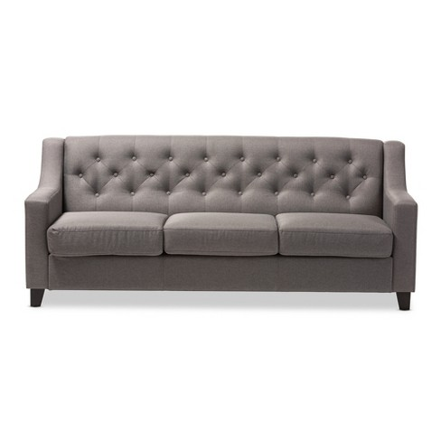 Arcadia Modern And Contemporary Fabric Upholstered On Tufted Living Room 3 Seater Sofa Baxton Studio Target