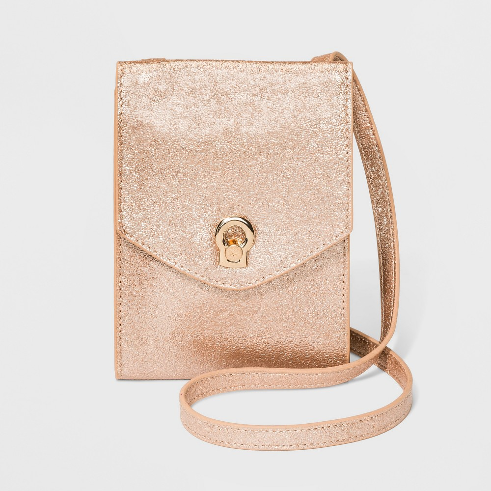 Wallet On A String Crossbody Bag - A New Day Rose Gold