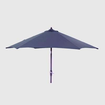 9' Round Patio Umbrella Navy - Black Pole - Threshold™