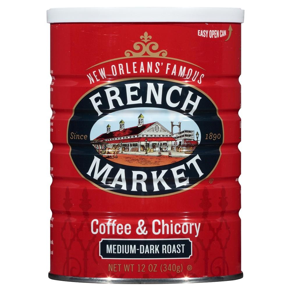 French Market New Orleans' Famous Medium Dark Roast Coffee & Chicory - 12oz