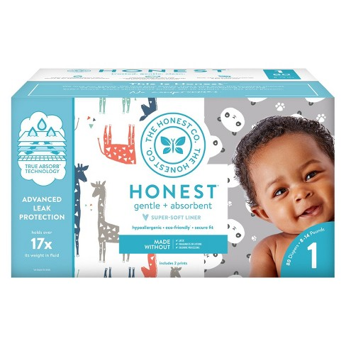Honest Company Disposable Diapers Club Pack Size 1 Select Pattern