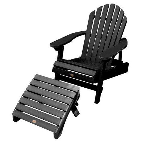 Hamilton Folding Reclining Adirondack Chair With Ottoman Highwood