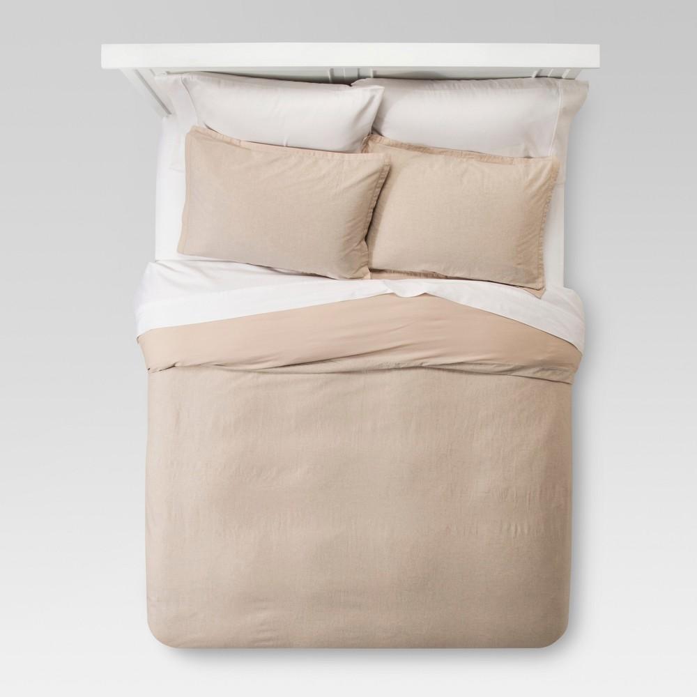 Natural Washed Linen Duvet Cover Set (King) - Threshold