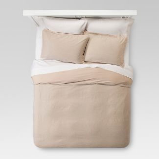 Natural Washed Linen Duvet Cover Set (King) - Threshold™