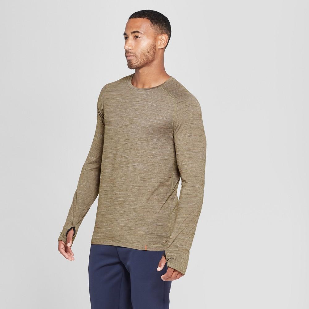 Men's Soft Touch Long Sleeve T-Shirt - C9 Champion Dark Moss Green Heather M
