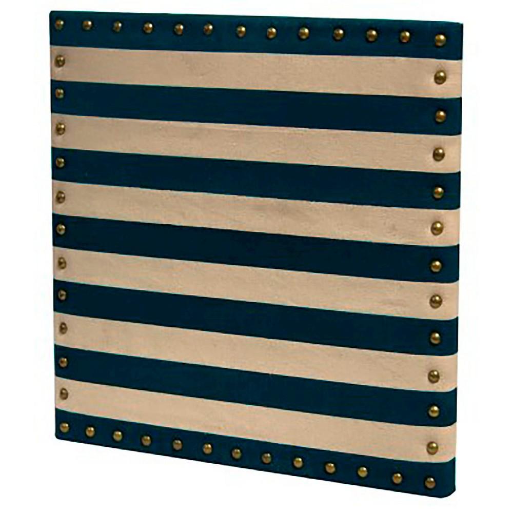 Blue/Linen Stripe Pinboard - Pillowfort