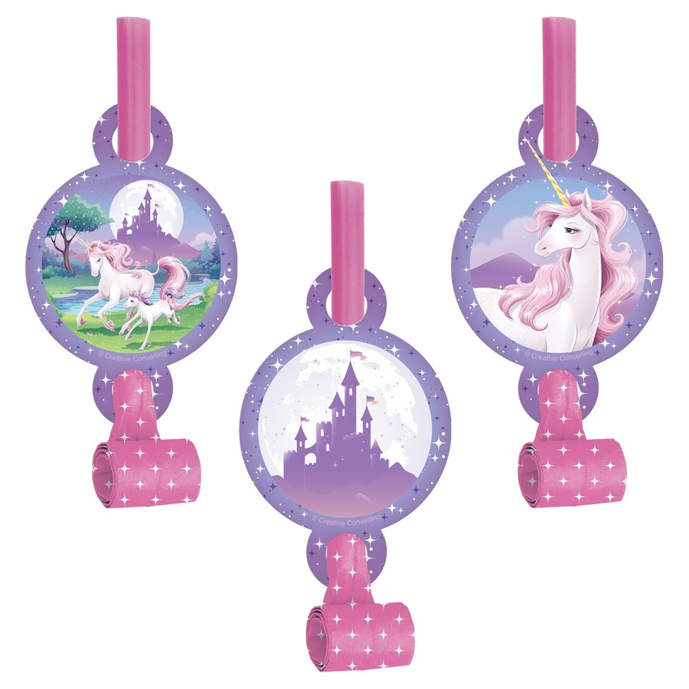 8ct Unicorn Fantasy Party Blowers