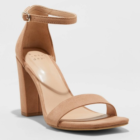 Women's Ema High Block Heeled Square Toe Pumps - A New Day™ - image 1 of 3