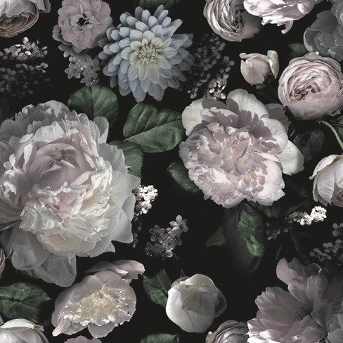 Tempaper Moody Self-Adhesive Removable Wallpaper Floral ...