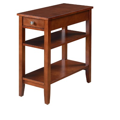 American Heritage Three Tier End Table with Drawer - Johar Furniture
