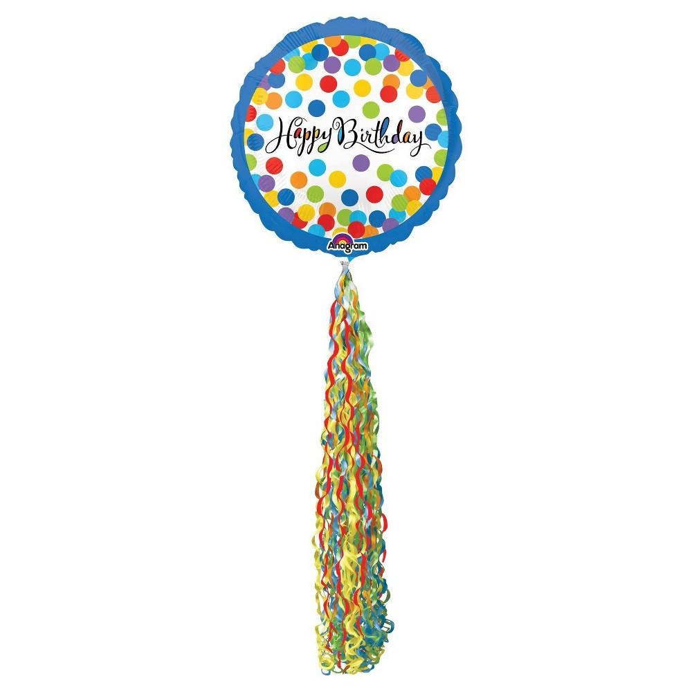 Best Sale Happy Birthday Streamer Airwalker Foil Balloon Multi Colored