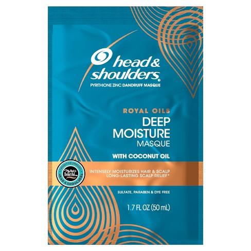 Head & Shoulders Royal Oils Deep Moisture Masque Conditioner with Coconut Oil - 1.7 fl oz - image 1 of 4