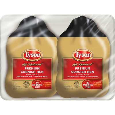 Tyson Premium Cornish Game Hen - Frozen - 3lbs/2pk