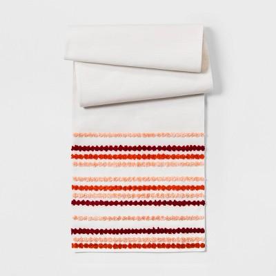 72 x14  Warm Tufting Table Runner White - Opalhouse™