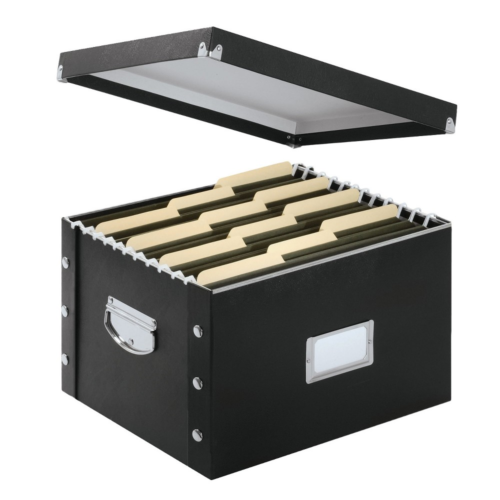 Image of Snap-N-Store File Box - Black