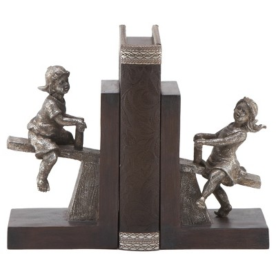 """Traditional L-Shape Bookends (8"""") 2ct - Olivia & May"""