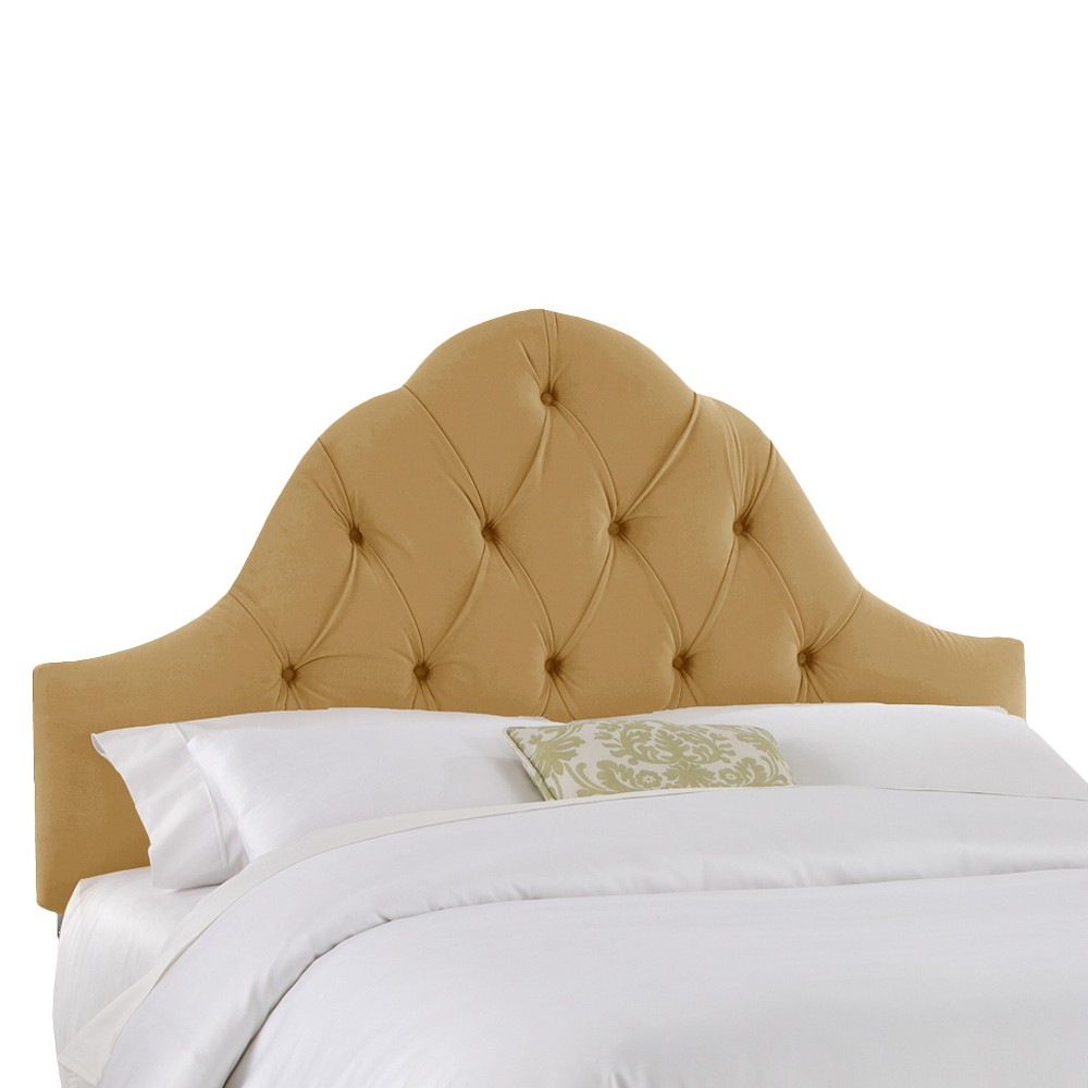 Toulouse Velvet Headboard Honey King Skyline Furniture