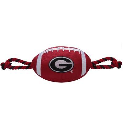 NCAA Georgia Bulldogs Nylon Football Dog Toy