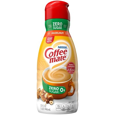 Coffee mate Zero Sugar Hazelnut Coffee Creamer - 1qt