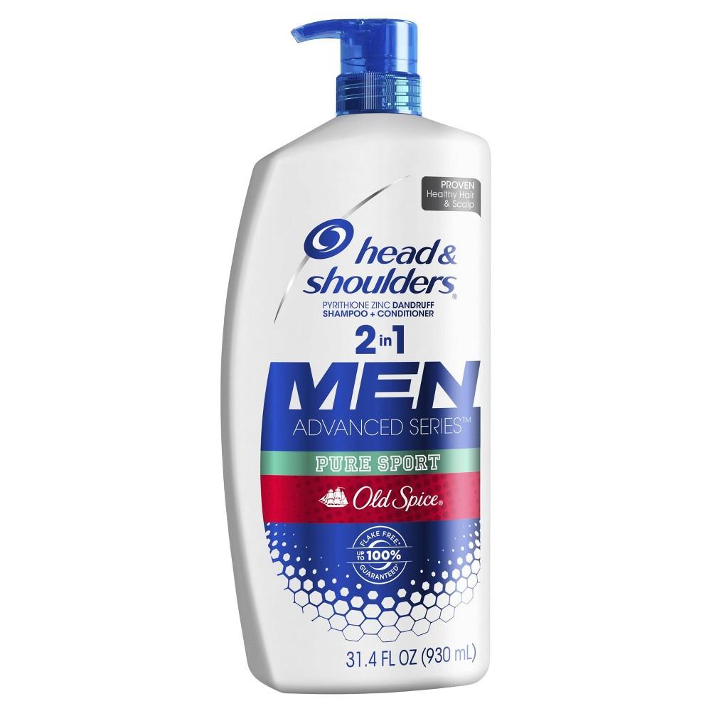 Head Shoulders Old Spice Pure Sport Dandruff 2 In 1 Shampoo Conditioner 31 4 Fl Oz