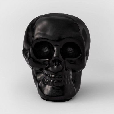 Black Mercury Glass Skull Halloween Decoration Small - Hyde & EEK! Boutique™