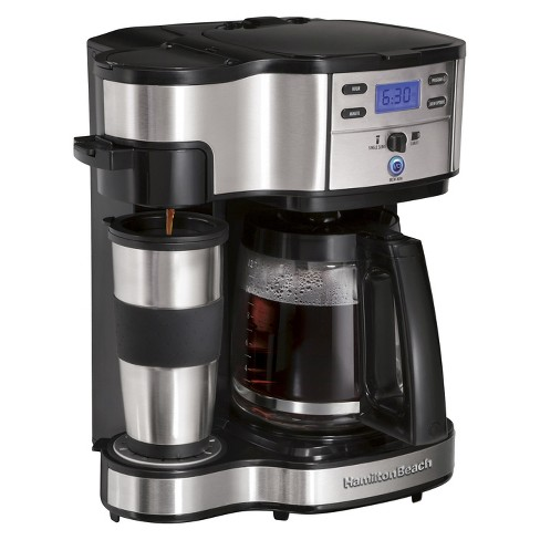 Hamilton Beach Black 2-Way Brewer Coffee Maker- 49980Z - image 1 of 5