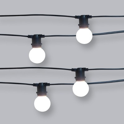 10ct Frosted LED Café Light Outdoor String Lights - Project 62™