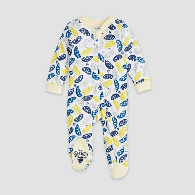 Burt's Bees Baby® Baby Boys' Organic Cotton Freshly Squeezed Sleep N' Play - Light Yellow 0-3M