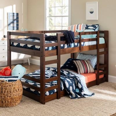 Twin Low Wood Bunk Bed - Saracina Home