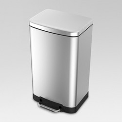 40 ltr Rectangle Step Trash Can - Stainless Steel  - Threshold™