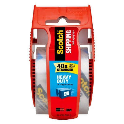 """Scotch Heavy Duty Shipping Tape with Dispenser 1.88"""" x 25.4m"""