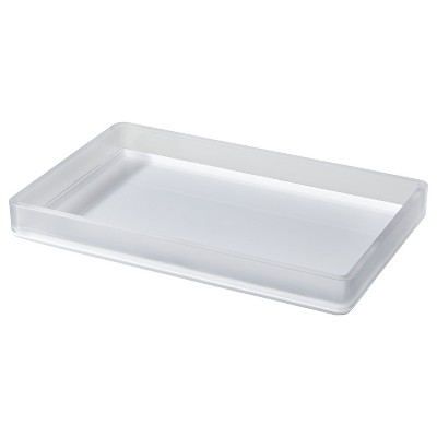 Frosted Bathroom Tray - Room Essentials™
