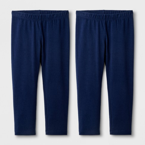 Girls' 2pk Capri Leggings - Cat & Jack™ Navy - image 1 of 1