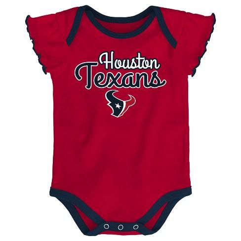 Houston Texans Girls  Newest Fan 3pk Bodysuit Set 1   Target a677ad1d1