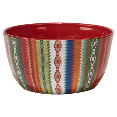 Certified International Monterrey by Veronique Charron Ceramic Serving Bowl 160oz Red