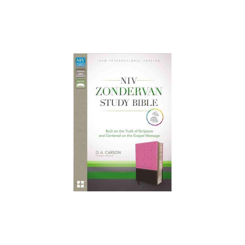 NIV Zondervan Study Bible : New International Version, Orchid/Chocolate, Italian Duo-tone (Paperback)