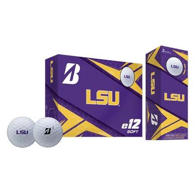 Bridgestone Golf 9CWYNCALS Driver Long Range Distance High Speed Louisiana State Tigers e12 Soft Golf Balls Set, 6 Pack