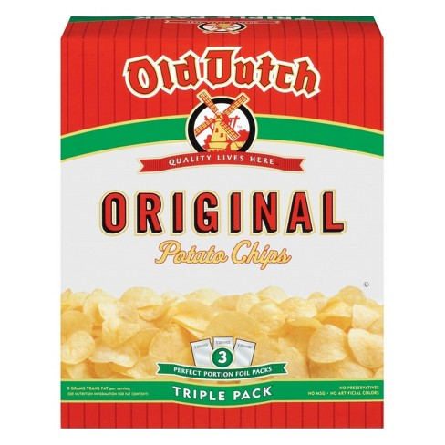 Old Dutch Triple Pack Original Potato Chips - 3ct - image 1 of 1