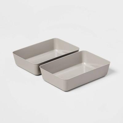 Large 2pk Storage Trays Gray Mist - Room Essentials™
