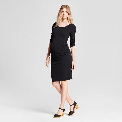 a162a9d8926 Maternity 3 4 Sleeve Shirred T-Shirt Dress - Isabel Maternity by Ingrid    Isabel™