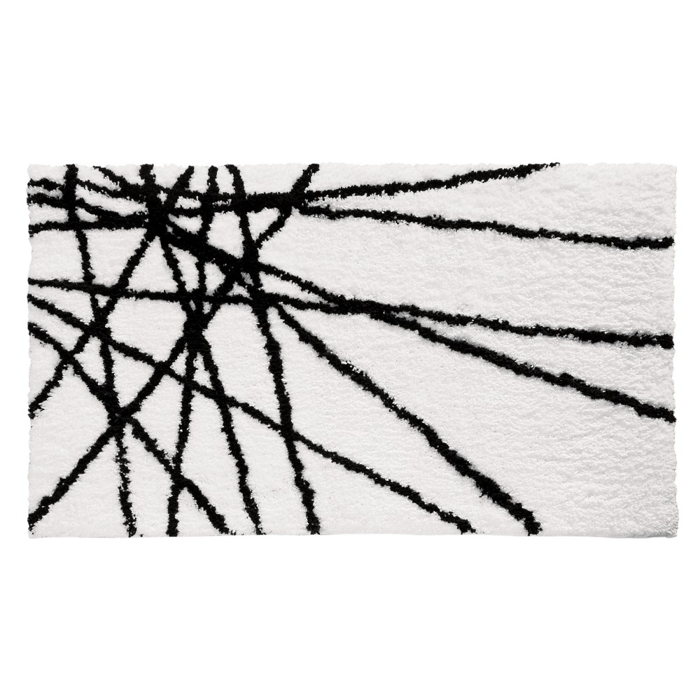 Image of Abstract Bath Rug Black/White - iDESIGN