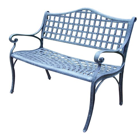 Elite Cast Aluminum Patio Settee Bench - Oakland Living - image 1 of 3