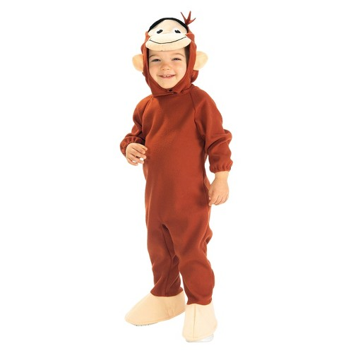 Halloween Toddler Curious George Costume - One Size, Men's, MultiColored