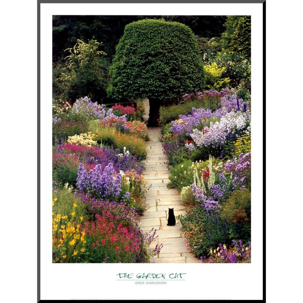 Art.com - The Garden Cat Mounted Print