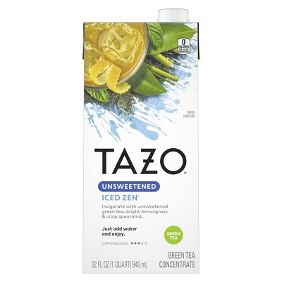 Tazo Concentrate Unsweetened Zen Iced Tea - 32oz