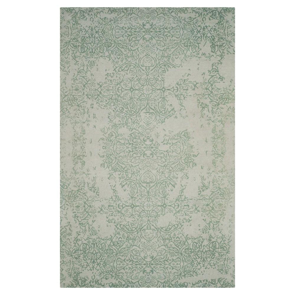 Restoration Vintage Rug - Gray/Turquoise - (5'x8') - Safavieh
