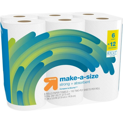 Make-A-Size White Paper Towels - Up&Up™ - image 1 of 4