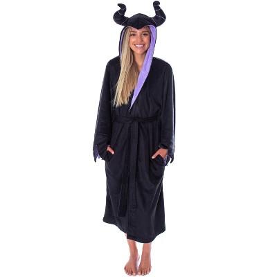 Disney Villains Women's Maleficent Costume Fleece Plush Robe Bathrobe