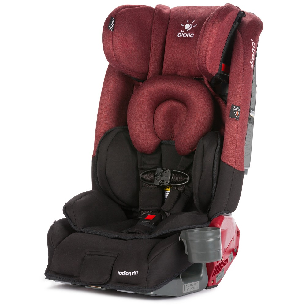 Diono Radian RXT All-In-One Convertible Car Seat - Black Scarlet, Red