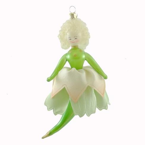 Tinkerbell Christmas Ornament.De Carlini Pretty Petals Italian Christmas Ornament Tinkerbell Pixie